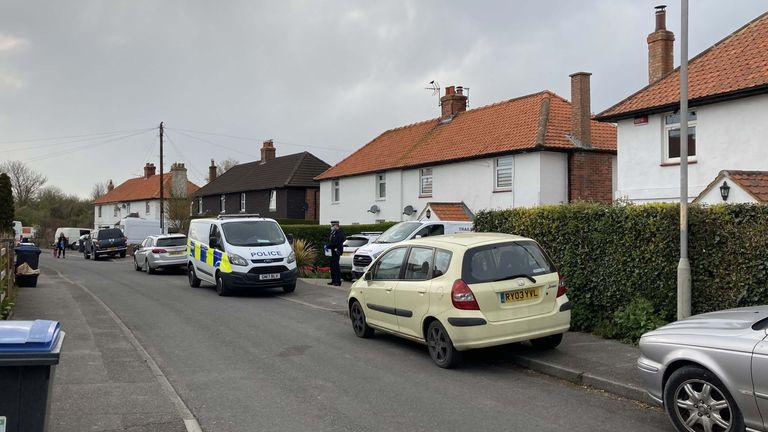 Police outside an address in Snowdown, Kent