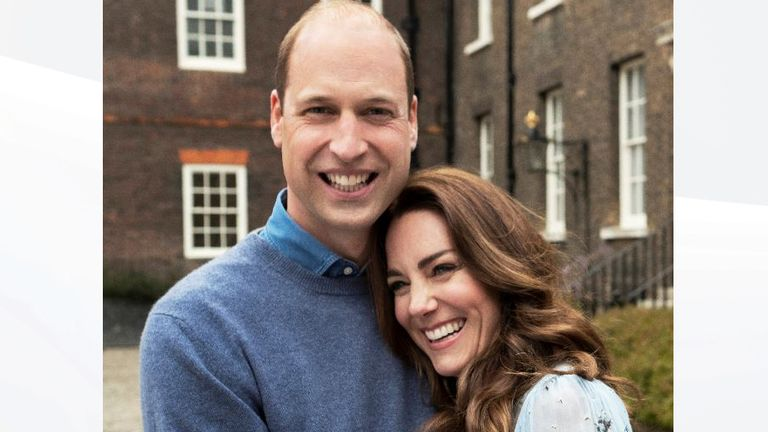 Kate and William ahead of their 10 anniversary on 29 April. Pic: Chris Floyd/Camera Press