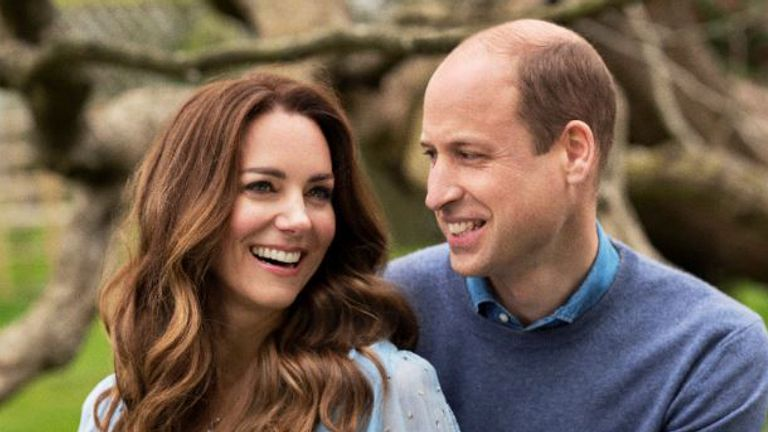 Kate and William ahead of their 10th anniversary on 29 April. Pic: Chris Floyd/Camera Press