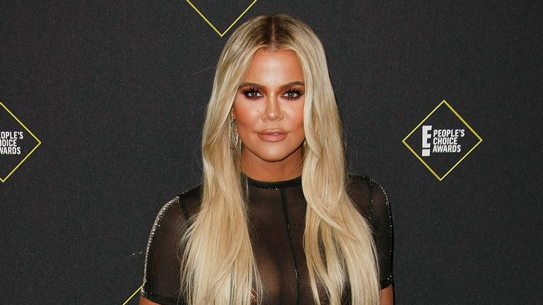 Khloe Kardashian, seen in 2019, has tried to have an 'unauthorised' picture removed from online posts. Pic: AP