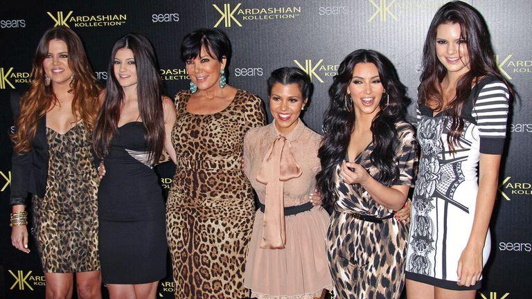 La famille Kardashian est photographiée en 2011. Photo: AP