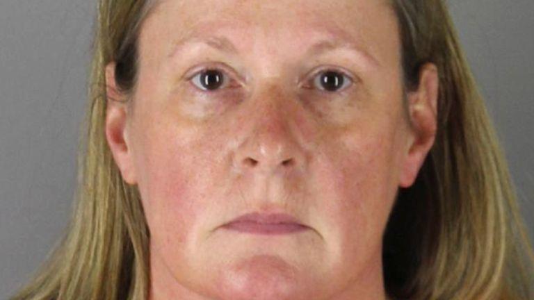 Kim Potter's booking photo. Pic: Hennepin County Sheriff via AP