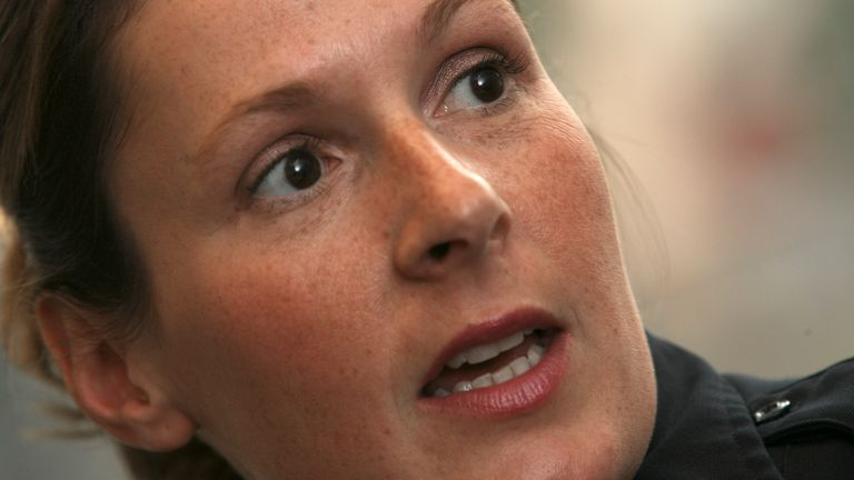 Officer Kim Potter pictured in 2007. Pic: Bruce Bisping/Star Tribune via AP