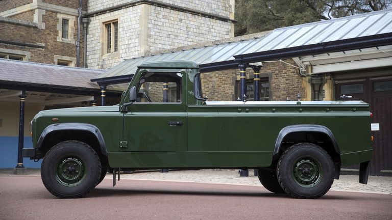 The modified Land Rover Defender TD5 130 chassis cab vehicle