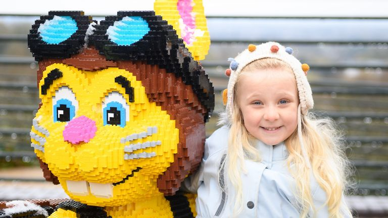 New friends are being made at Legoland, in Berkshire