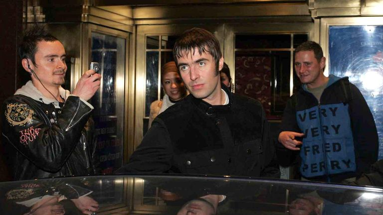 Liam Gallagher leaves party at London's Soho House in 2004