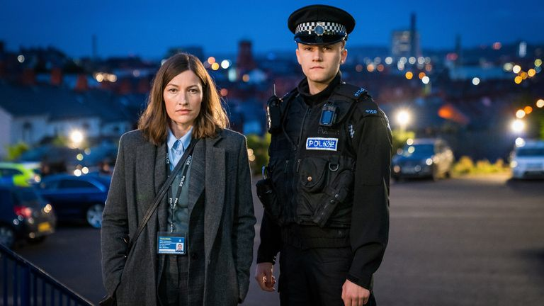 DCI Joanne Davidson (Kelly MacDonald), Ryan Pilkington (Gregory Piper) in Line Of Duty. Pic: BBC/World Productions/Steffan Hill