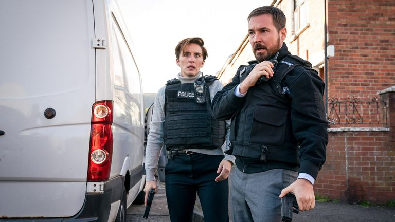 DI Kate Fleming (Vicky McClure), DI Steve Arnott (Martin Compston) in Line Of Duty. Pic: BBC/World Productions/Steffan Hill