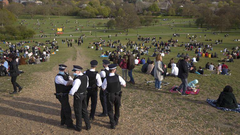 Police patrol Primrose Hill, London. Pic: Marcin Nowak/Shutterstock