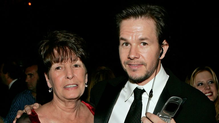 "FILE - In this Sunday, Jan. 16, 2005, file photo, Mark Wahlberg, executive producer of the HBO series ""Entourage,"" and his mother Alma pose at the HBO party after the 62nd Annual Golden Globe Awards, in Beverly Hills, Calif. Alma Wahlberg, the mother of entertainers Mark and Donnie Wahlberg and a regular on their reality series ...Wahlburgers..., has died, her sons said on social media Sunday, April 18, 2021. She was 78. ...My angel. Rest in peace,... Mark Wahlberg tweeted. (AP Photo/Lisa Rose, File)"
