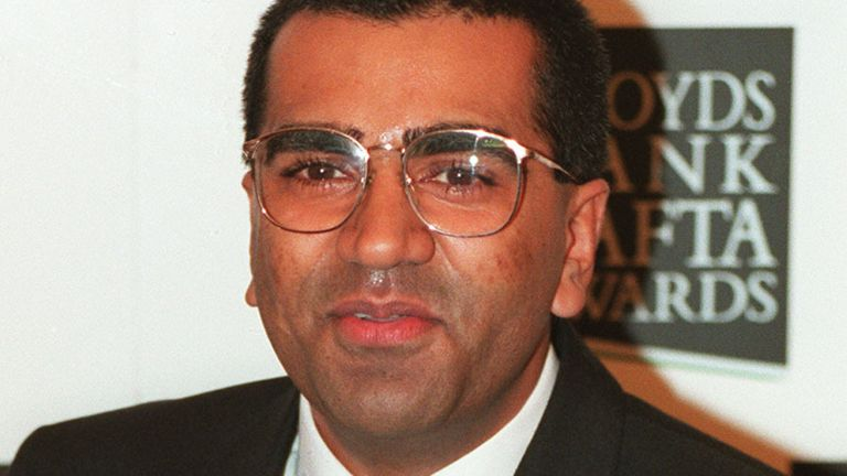 Martin Bashir with the BAFTA award he won for best talk show after the Panorama interview with Diana