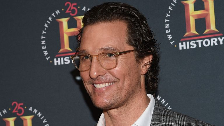 "Actor Matthew McConaughey attends A+E Network's ""HISTORYTalks: Leadership and Legacy"" at Carnegie Hall on Saturday, Feb. 29, 2020, in New York. (Photo by Evan Agostini/Invision/AP)"