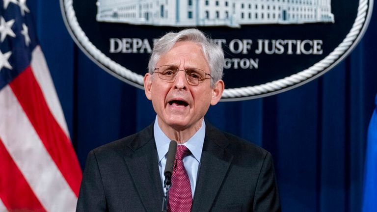The investigation was announced by US Attorney General Merrick Garland