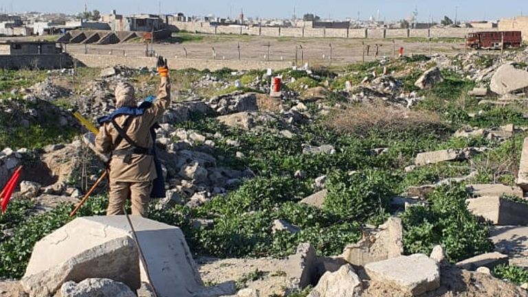 The Commonwealth War Graves Commission is repairing and restoring Mosul War Cemetery in Iraq. Pic: UNMAS