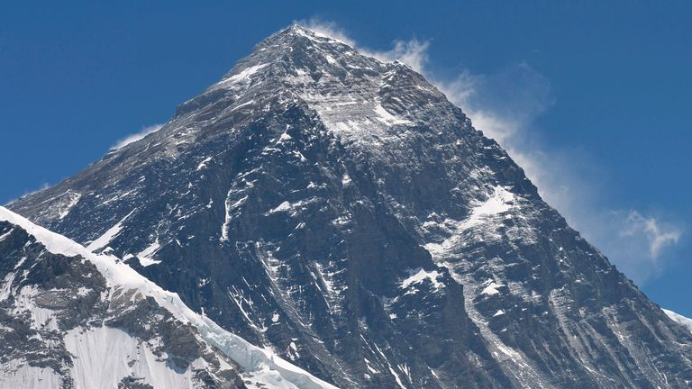Mount Everest is the world's highest peak at 8,848.86 metres. Pic: AP