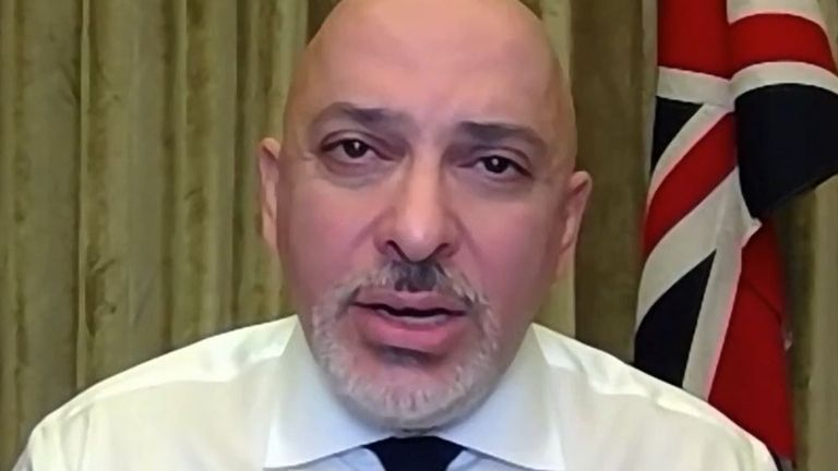 Nadhim Zahawi explains the government's current position on so-called 'vaccine passports'