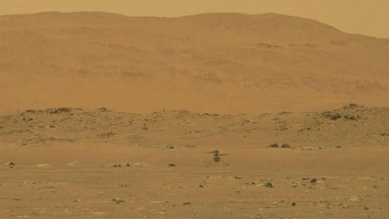 Mars helicopter Ingenuity completed a successful test flight on the red planet.