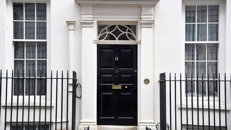 The prime minister lives above No 11 Downing Street
