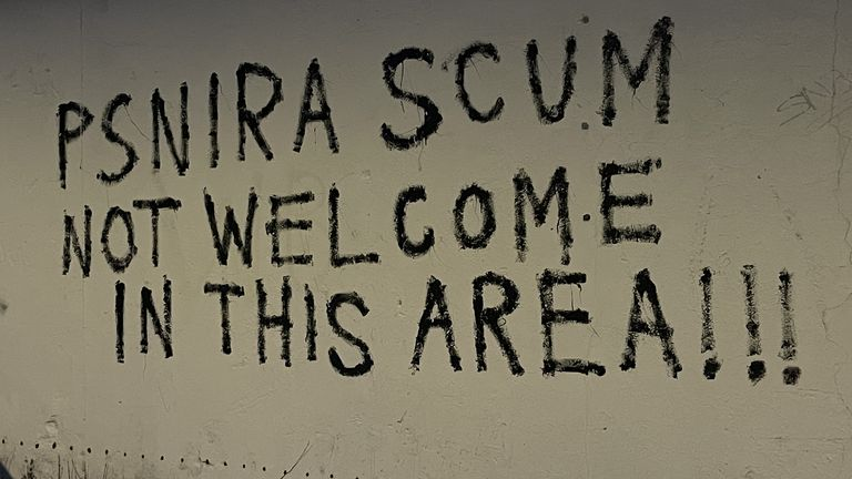 Graffiti seen in Belfast this week