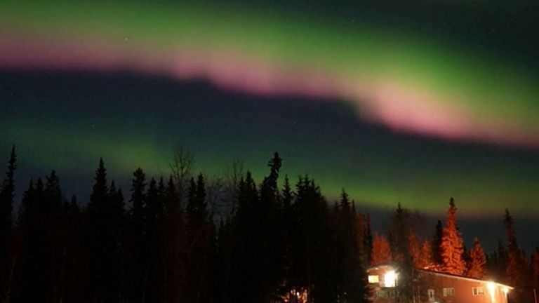 Northern lights seen over Alaska