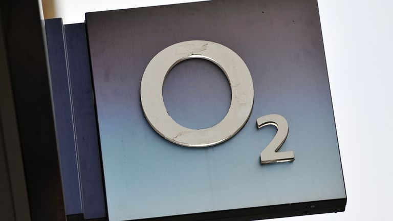 File photo dated 06/01/16 of a shop sign for O2