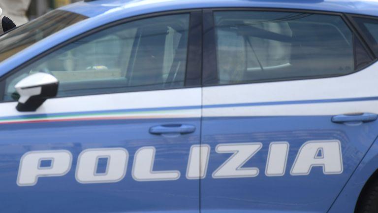 Police car in Italy
