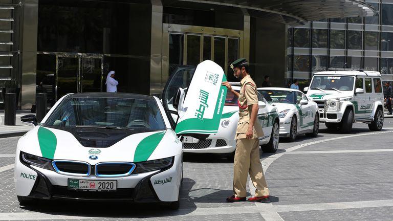 Police in Dubai. Pic: AP