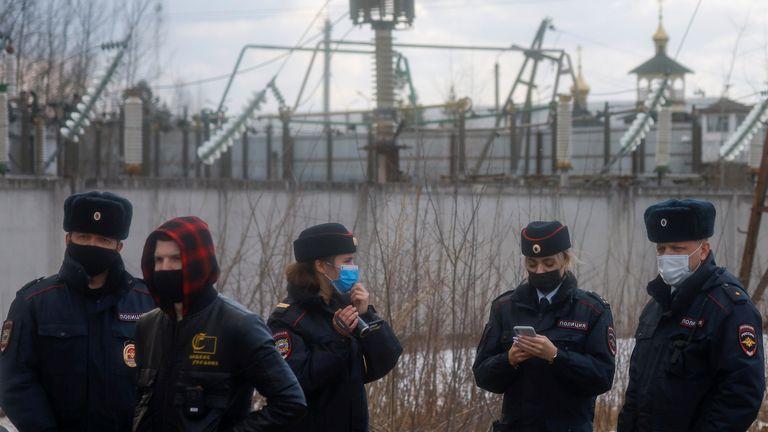 Police gather near IK-2 corrective penal colony