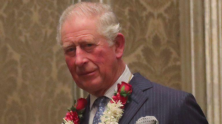 Prince Charles in Mumbai, India, in 2019