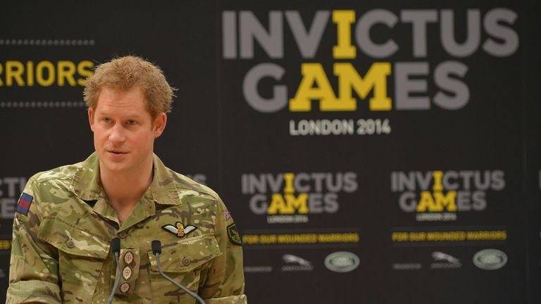 Prince Harry launched the first Invictus Games in 2014