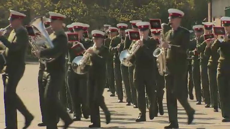 About 730 men and women from the Armed Forces will take part in the funeral