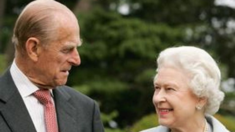 The Queen and Prince Philip on their diamond wedding anniversary in 2017