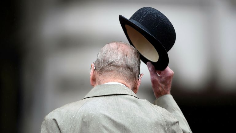 Only 30 mourners will be allowed at the duke's funeral. Pic: AP