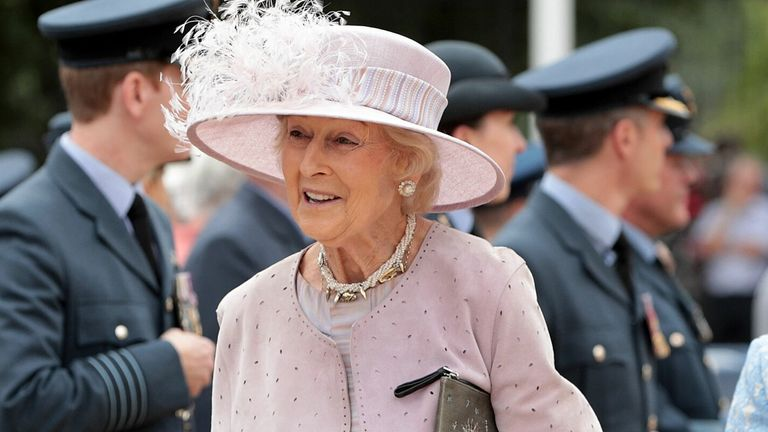 Princess Alexandra attenda a reception at Horse Guards Parade, London, to mark the centenary of the Royal Air Force. PRESS ASSOCIATION Photo. Picture date: Tuesday July 10, 2018. See PA story DEFENCE RAF100. Photo credit should read: Dan Kitwood/PA Wire