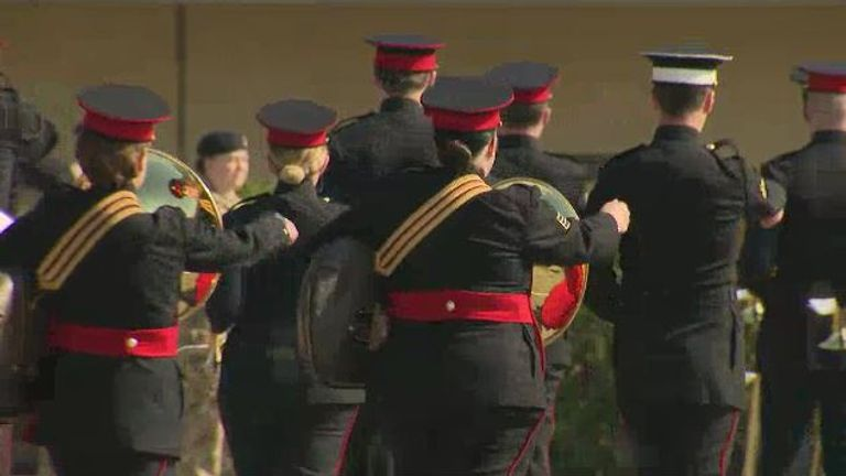 All branches of the Armed Forces will be involved in the ceremony