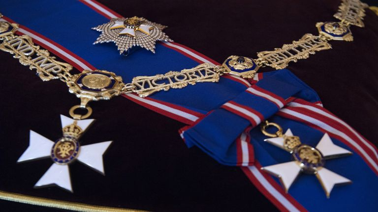 Detail of Thistle Collar and St Andrew Badge and the Thistle Breast Star and Badge,
