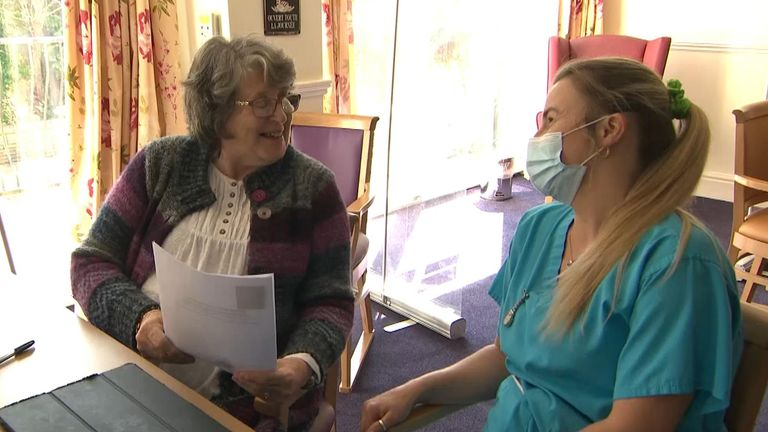 Audrey Drake's poem to the duke went down well at her care home