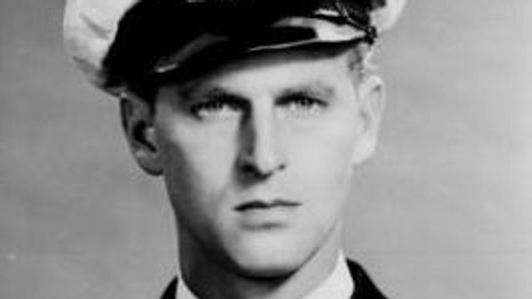 Prince Philip in 1946 as an officer in the Royal Navy