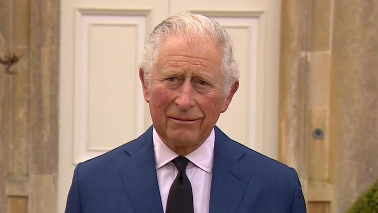 Prince Charles pays tribute to his father, Prince Phillip.