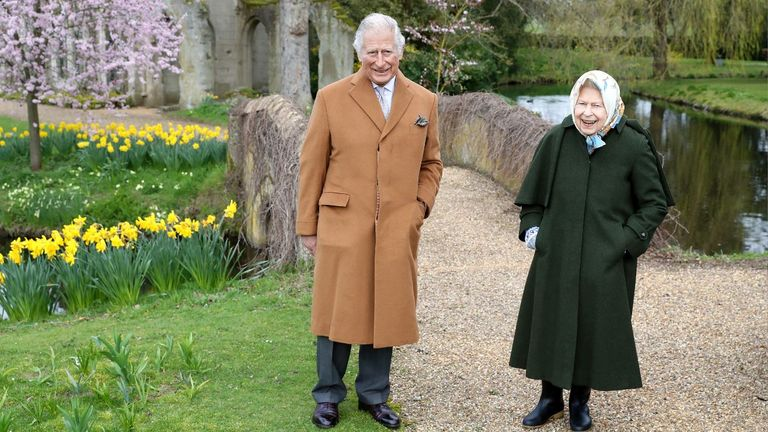 The pair were wrapped up in warm coats for their pre-Easter stroll