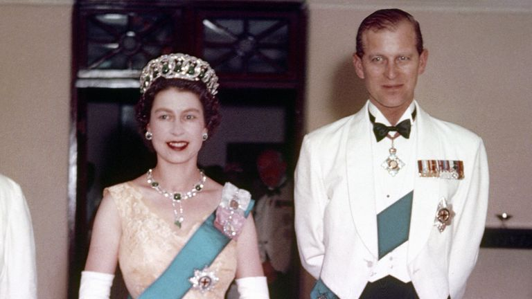The Queen and Prince Philip in Lagos, Nigeria in February 1956