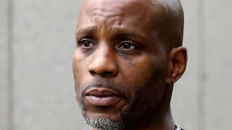 Rapper DMX exits the U.S. Federal Court in Manhattan following a hearing regarding income tax evasion charges in New York