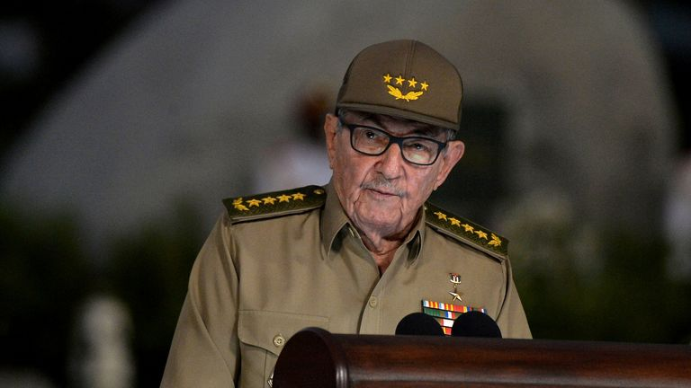Raul Castro has announced he is retiring. File pic