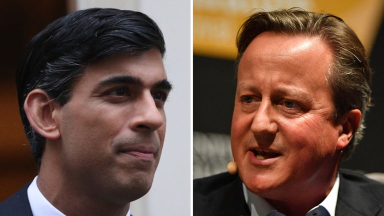 Rishi Sunak and David Cameron exchanged text messages about financial services firm Greensill Capital