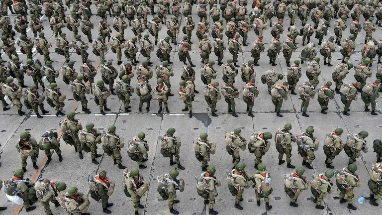Russian troops near the Ukrainian border