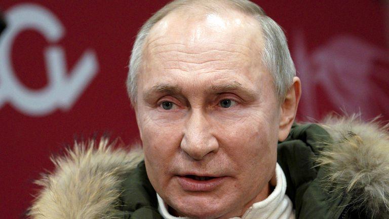 Russian President Vladimir Putin. Pic: AP