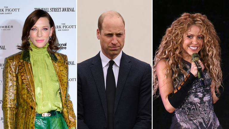 Cate Blanchett, Prince William and Shakira are among the judges for Earthshot. Pics: PA and AP