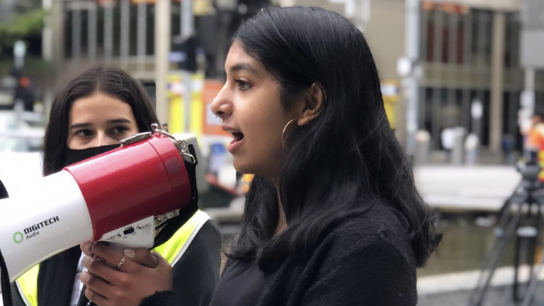 Climate activist and student Anjali Sharma from Melbourne is taking the Australian Government to court over a proposed extension to a coal mine in New South Wales.