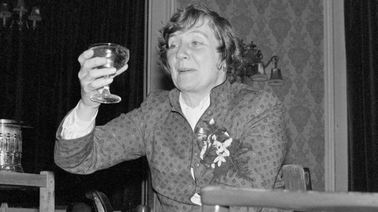 File photo dated 27/11/81 of Shirley Willaims putting her feet up and celebrating with a glass of champagne after her victory for the SDP-Liberal Alliance in the Crosby by-election. The former cabinet minister and Liberal Democrat peer, Baroness Williams of Crosby, has died aged 90, the Liberal Democrats have said. Issue date: Monday April 12, 2021.