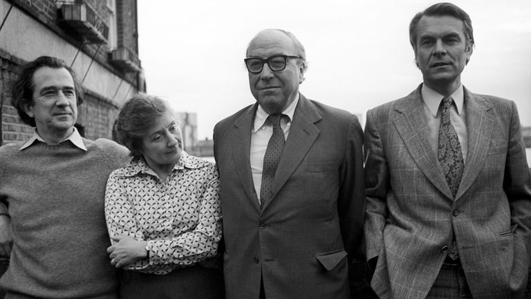 File photo dated 25/01/81 of the 'gang of four' former Labour cabinet ministers (left to right Bill Rodgers, Shirley Williams, Roy Jenkins and David Owen, outside Dr Owen's London home, where they announced their intention to set up a council for social democracy. The former cabinet minister and Liberal Democrat peer, Baroness Williams of Crosby, has died aged 90, the Liberal Democrats have said. Issue date: Monday April 12, 2021.